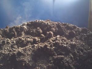 発酵する堆肥